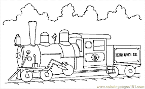 Train Coloring Page 11