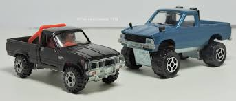 Majorette And Tomica 1980 Toyota Hilux's | Two Lane Desktop