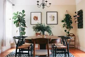 Dining Rooms Eclectic Room With Tropical Leaves