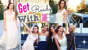get ready with me prom makeup hair and youtube