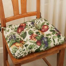 Dining Room Great Blue Seat Chair Cushions For Indoor And Outdoor Impressive Fruit Pattern Cozy Kitchen