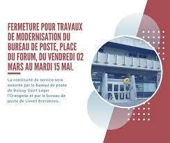 bureau de poste limeil brevannes fermeture pour travaux de modernisation du bureau de poste place