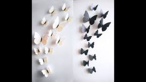 DIY Butterflies Wall Decor IDea How To Cut Paper
