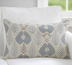 fern ikat print lumbar pillow cover pottery barn
