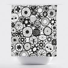 Black And White Flower Shower Curtain by Gillham Studios Shower Curtains Shower Curtains Outlet