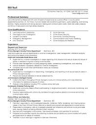 Free Law Enforcement Resume Example Writing Sample Home Design Template