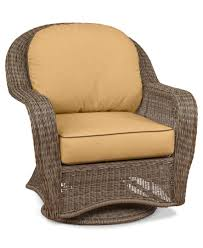 Sandy Cove Wicker Outdoor Swivel Glider: Custom Sunbrella®, Created ...