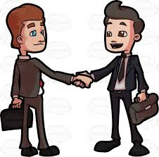 Two Business Associates Shaking Hands After A Meeting