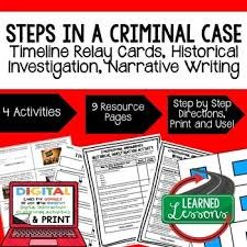 Civics Steps In A Criminal Case Sequencing Writing Paper Google Drive