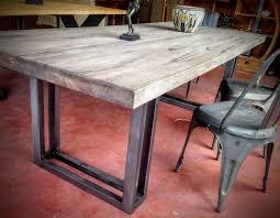 table bois metal industriel table chªne industrielle acier