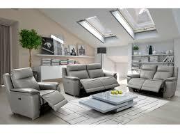 canapé cuir gris anthracite canapé et fauteuil relax électrique en cuir 2 coloris paosa