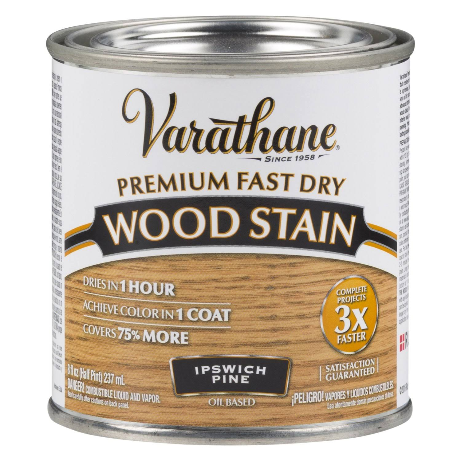 Varathane Fast Dry Oil Wood Stain - 1/2 Pint, Ipswich Pine