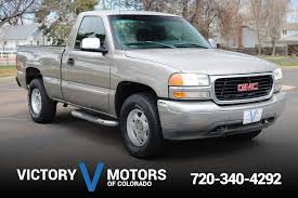 2000 GMC Sierra 1500 SLE | Victory Motors Of Colorado 2000 Gmc Sierra K2500 Sle Flatbed Pickup Truck Item F6135 02006 Fenders Aftermarket Sierra 4x4 Like Chevy 1500 Pickup Truck 53l Red Youtube Another Tmoney5489 Regular Cab Post Photo 3500hd Crew Db5219 Used C6500 For Sale 2143 Specs And Prices Mbreener Extended Cabshort Bed Photos 002018 Track Xl 3m Pro Side Door Stripe Decals Vinyl Chevrolet 24 Foot Box Cat Diesel Xd Series Xd809 Riot Wheels Chrome