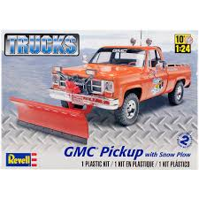 100 Truck With Snow Plow Plastic Model Kit GMC Pickup W 124 Walmartcom