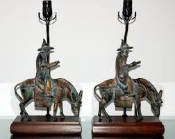 Frederick Cooper Table Lamps Brass by Vintage Patinated Bronze Sculpture Lamps By Frederick Cooper