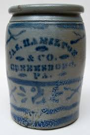 Hamilton and Jones Cobalt Decorated Early American Antique