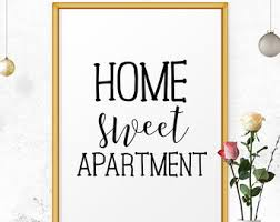 Home Sweet Apartment Decor Art Print Wall