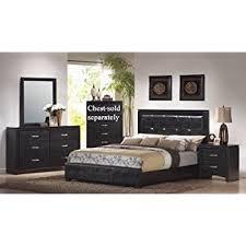 Amazon 4pcs Queen Size Bedroom Set Black Finish Kitchen
