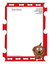 Dog Kid Letterhead Template