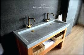 faucet trough bathroom sink two faucet trough bathroom sink