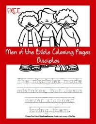 FREE Men Of The Bible Coloring Page Disciples Imagine Being Sent On