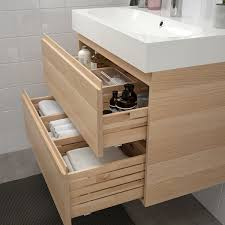 godmorgon bråviken waschbeckenschrank 2 schubl eicheneff wlas brogrund mischbatterie 80x48x68 cm