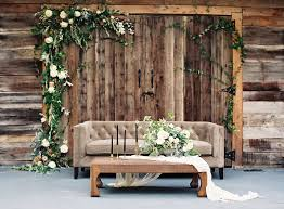 Rustic Chic Wedding Backdrop Lounge