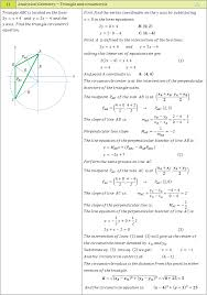 Analytical geometry examples