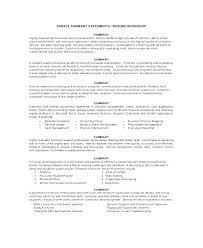 Resume Personal Summary Statement For Examples Fresh Nursing