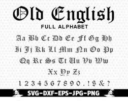 Old English Monogram Alphabet Svg Font Gothic Fontfont Cuttable SVG DXF Png