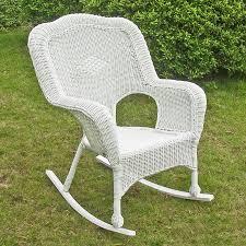 Resin Wicker Chairs Walmart by International Caravan Chelsea Wicker Resin Patio Rocking Chair