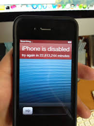 serious problem IPhone Disabled Connect To ITunes
