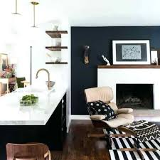 Navy Accent Wall Blue Living Room Walls Ideas On Rooms