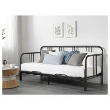ikea lit canape fyresdal day bed with 2 mattresses black malfors firm 80x200 cm ikea