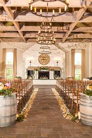 Rustic Chic Indoor Winery Wedding Ceremony