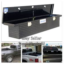 100 Low Profile Black Truck Tool Box Bed Storage Full Size Slimline Car
