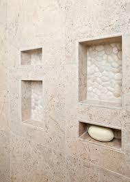 shower design pebbles niche search bathroom makeover