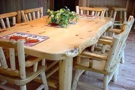 Dining Room Tables And Chairs Cedar Table Image For Sale Plymouth