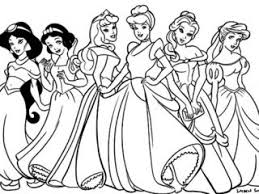 Princess Coloring Pages Disney Halloween Kids