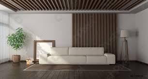 foto auf lager minimalistisches wohnzimmer mit holzvertäfelung im hintergrund