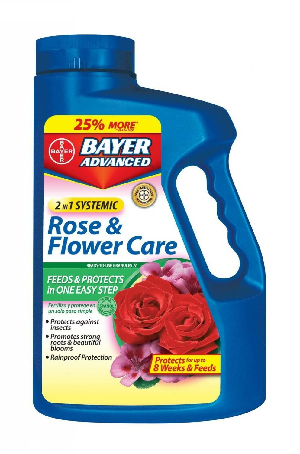 Bayer 2 in 1 Systemic Rose and Flower Care Granules - 5lbs
