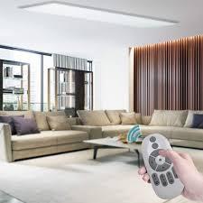 pro mehr licht oubo led panel farbwechsel dimmbar 120x30 36w 3500lm weißrahmen mit fernbedienung und controller
