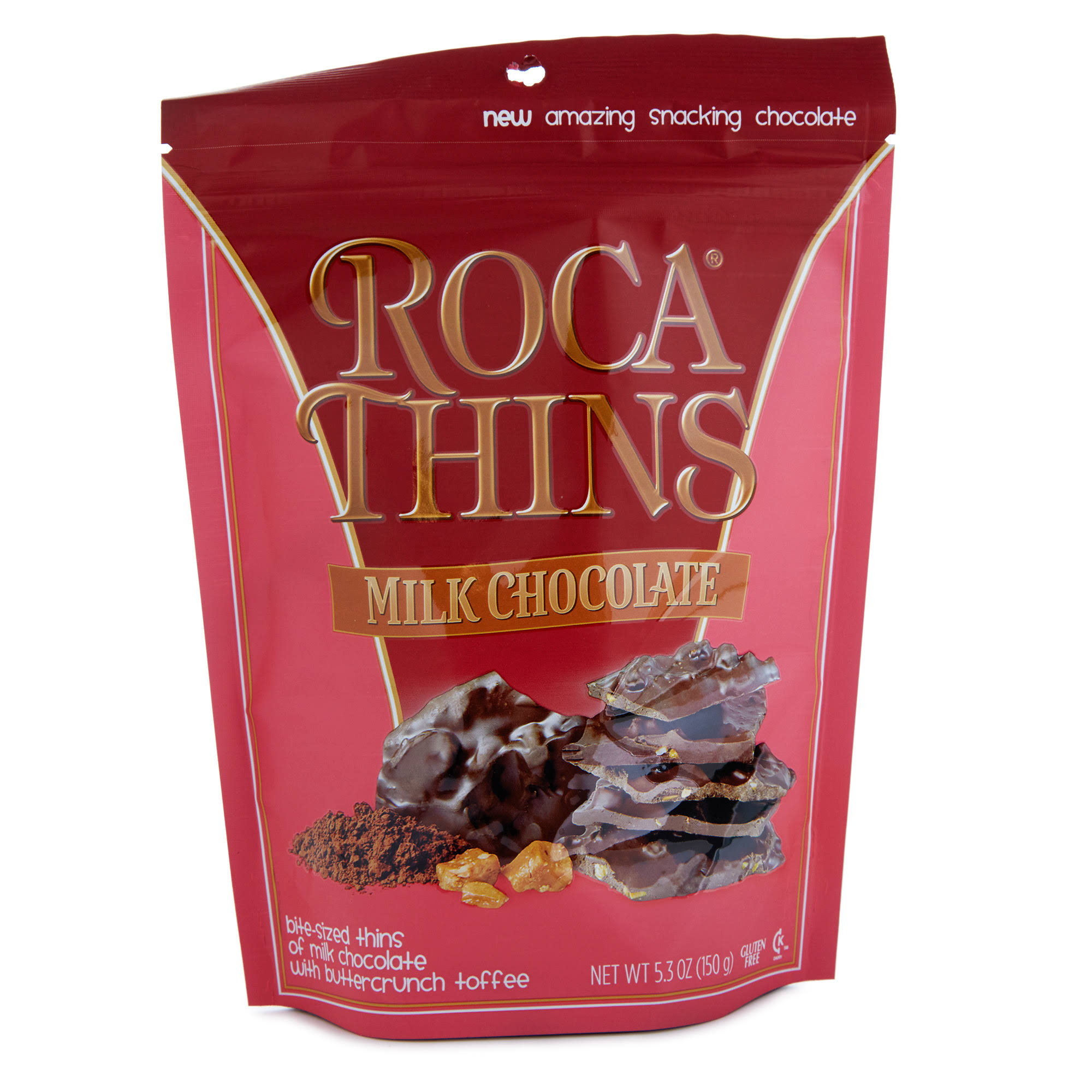 Brown and Haley Roca Thins Milk Chocolate - 150g