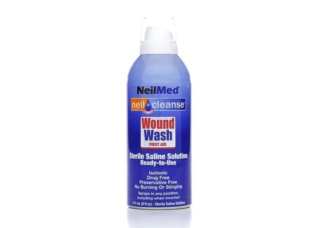 Neil Med First Aid Wound Wash Sterile Saline Cleanse Solution - 6oz