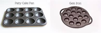 Similar To A Patty Cake Pan Use It You Heat Up The Gem Iron In Moderately Hot Oven Then Add Batter And Bake Them For Just Short Time