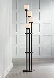 Light Tree Four Bronze Torchiere Floor Lamp