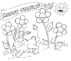 Springtime Printable Coloring Pages Animals