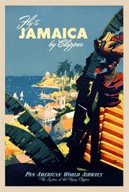 Fly Jamaica Pan Am 1948 America USA