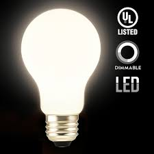 led dimmable a19 frosted glass filament light bulb 4 5w 40w