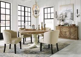 Grindleburg Round Dining Room Set W/ Low Back Chairs By Signature ... Round Back Ding Chair Stunning High Upholstered Magnussen Home Walton Wood Table Set With Roundup Natural Linen Paige Chairs Of 2 World Market Signature Design By Ashley Trudell 5piece Gray Roundback Eichholtz Dearborn 1 Oroa Cramco Inc Contemporary Parkwood With Amazoncom Formal Luxurious 5pc Antique Silver Finish Turner At Gardnerwhite Davenport And 4 In Ivory Oak Dav010 Beige Ding Chair Curve Arm Black Wood Frame Also Round